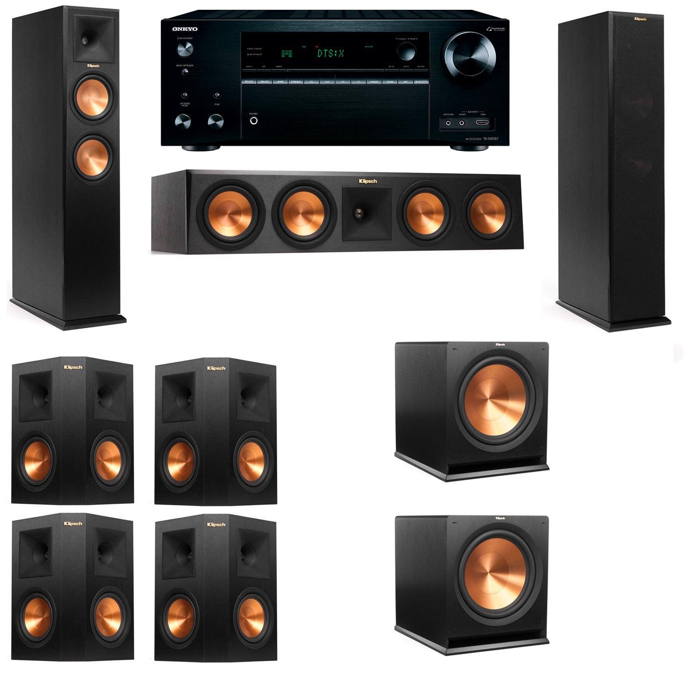 Klipsch RP-250F Tower Speakers-7.2-Onkyo TX-NR757