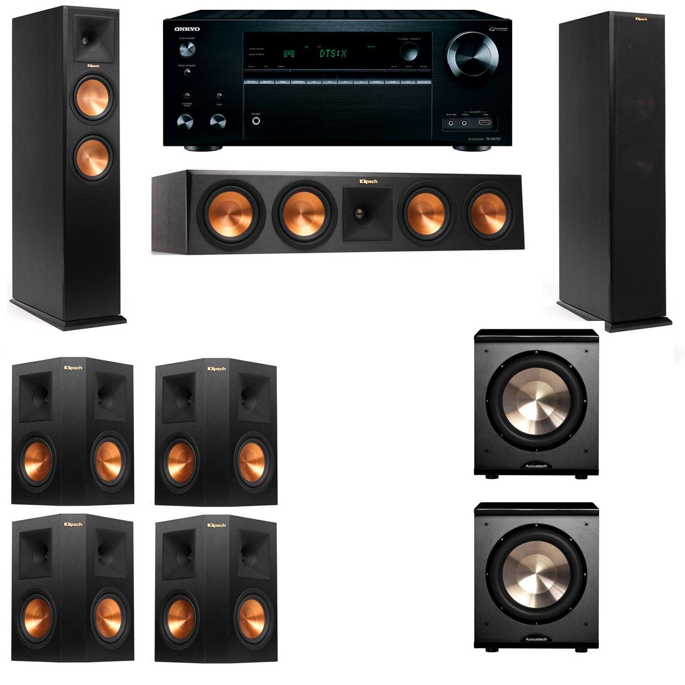 Klipsch RP-250F Tower Speakers-PL-200-7.2-Onkyo TX-NR757