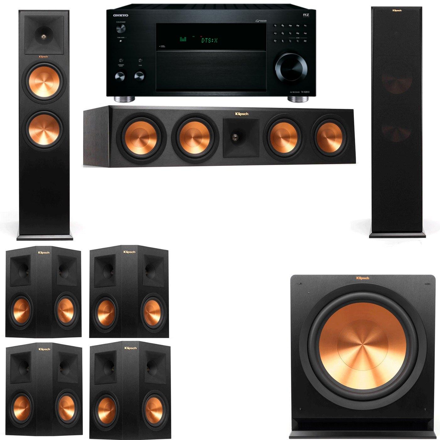 Klipsch RP-280F Tower Speakers-R112SW-7.1-Onkyo TX-RZ810