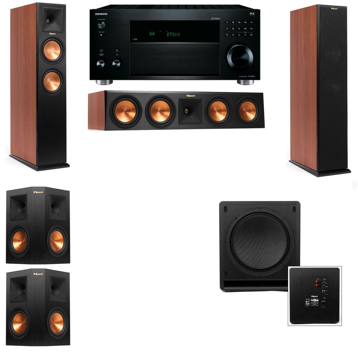 Klipsch RP-280F Tower Speakers-PL-200-3.1-Onkyo TX-RZ810