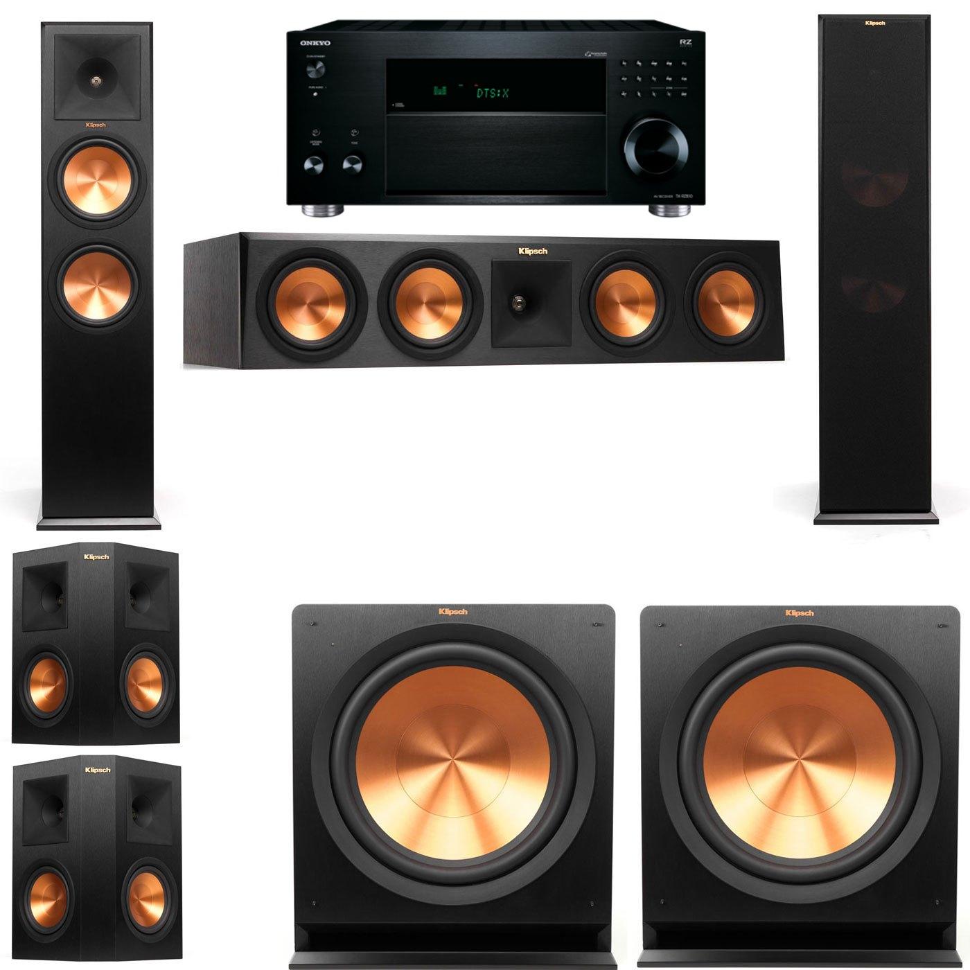 Klipsch RP-280F Tower Speakers-R112SW-5.2-Onkyo TX-RZ810