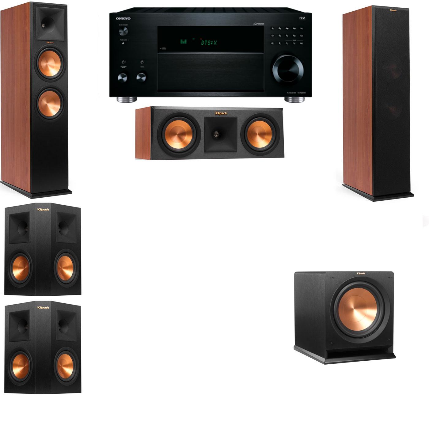 Klipsch RP-280F Tower Speakers CH-RP-250C-R112SW-5.1-Onkyo TX-RZ810