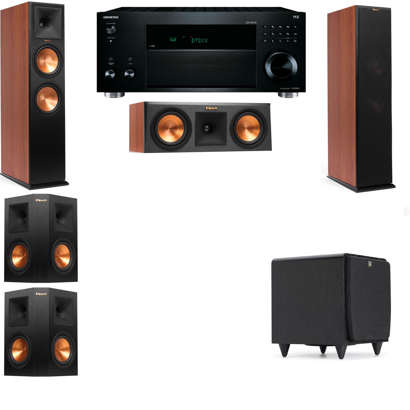 Klipsch RP-280F Tower Speakers CH-RP-250C-SDS12 -5.1-Onkyo TX-RZ810