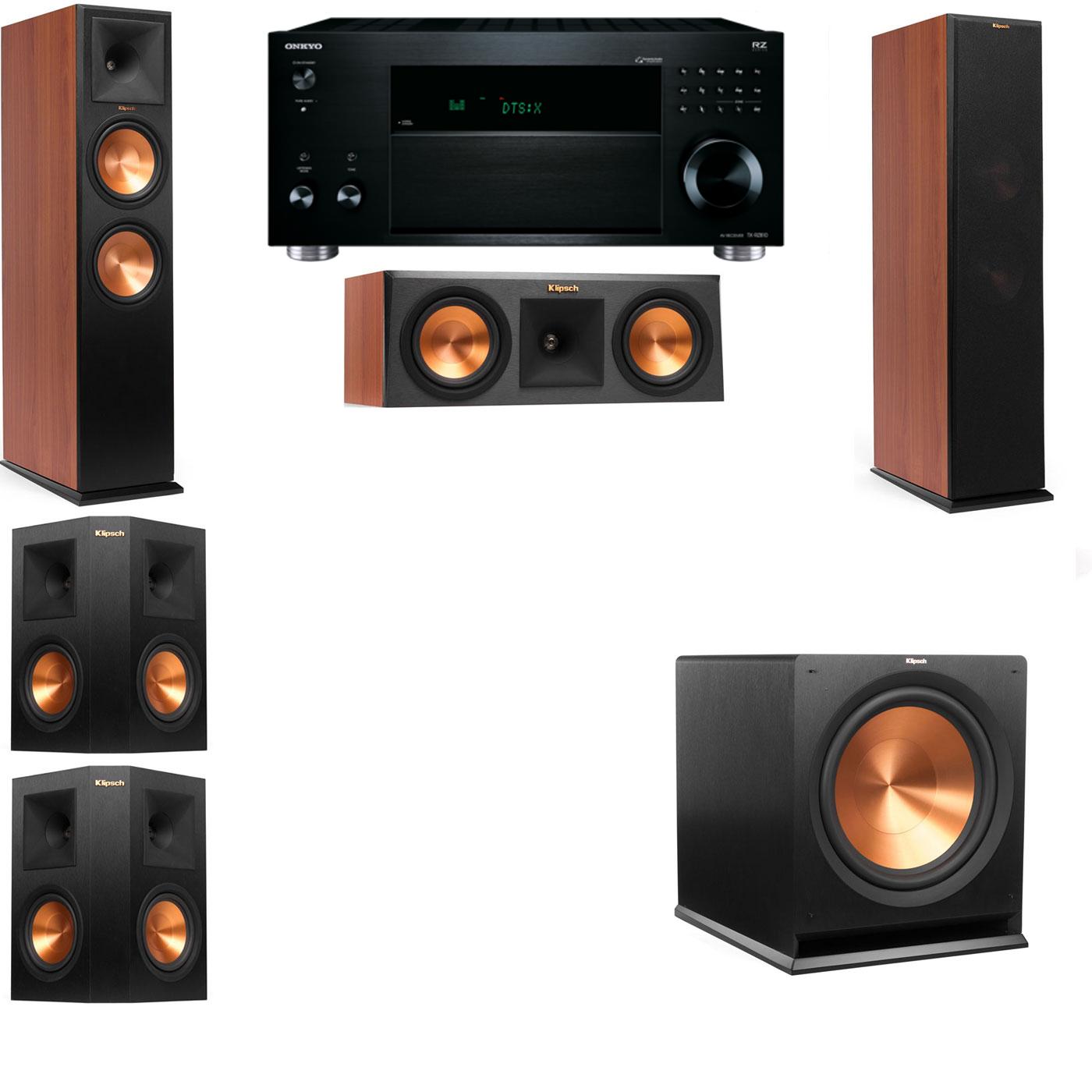 Klipsch RP-280F Tower Speakers CH-RP-250C-5.1-Onkyo TX-RZ810