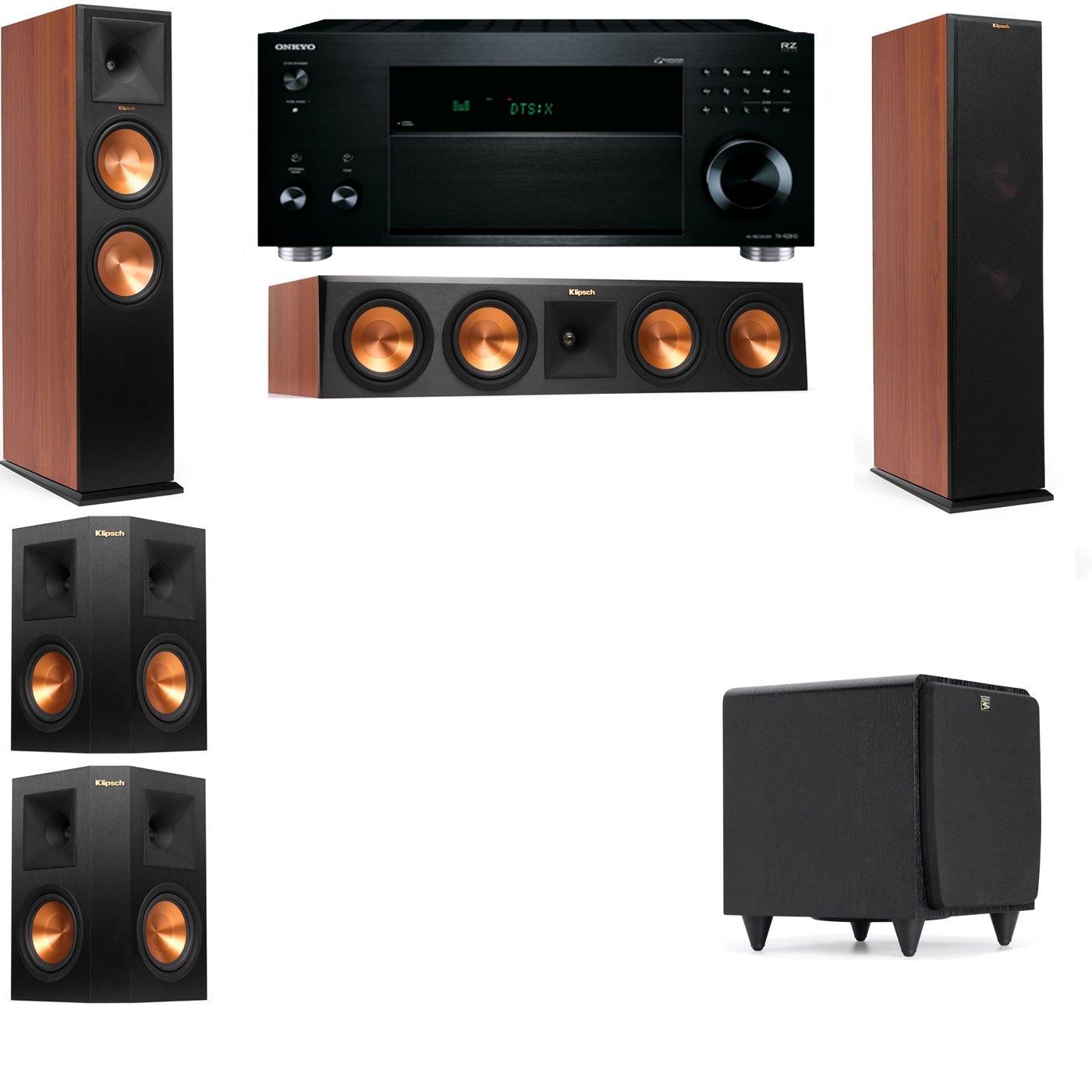 Klipsch RP-280F Tower Speakers CH-SDS12-5.1-Onkyo TX-RZ810