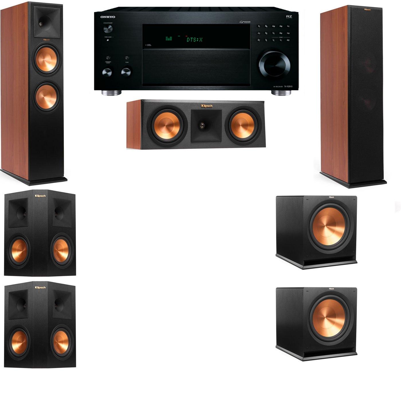 Klipsch RP-280F Tower Speakers CH-RP-250C-5.2-Onkyo TX-RZ810