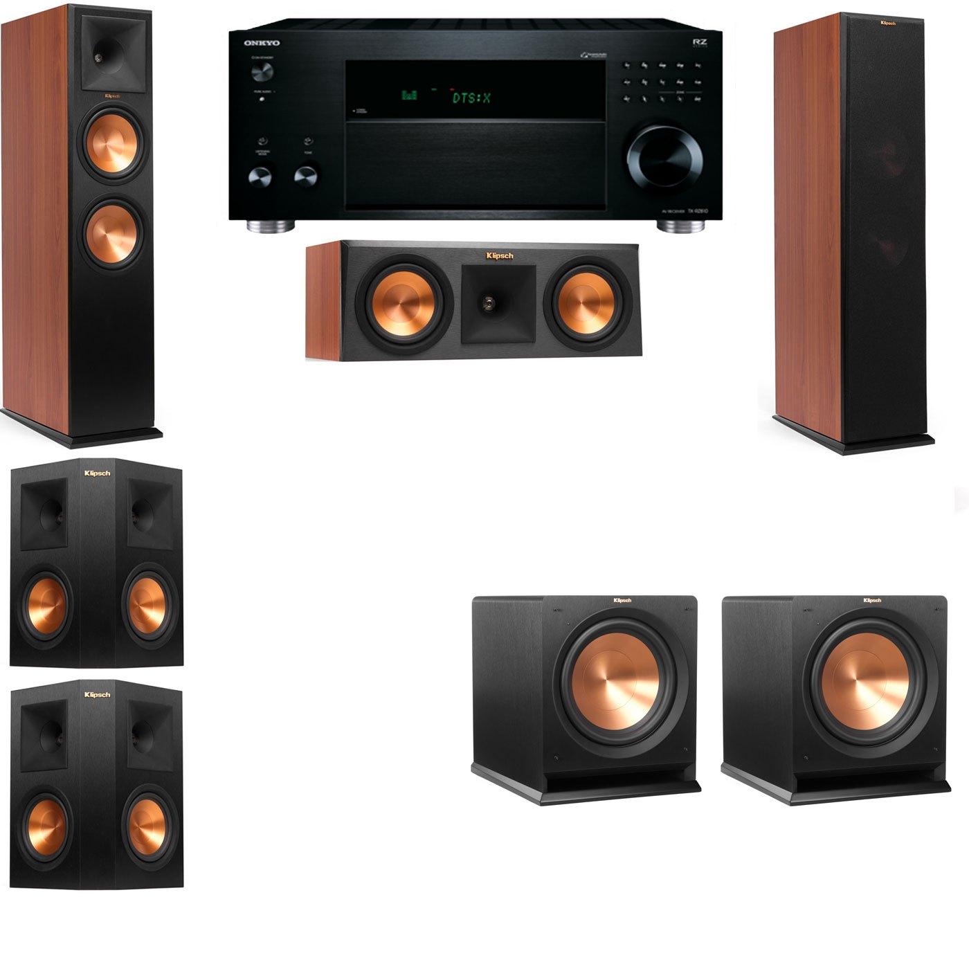 Klipsch RP-280F Tower Speakers CH-RP-250C-R112SW-5.2-Onkyo TX-RZ810
