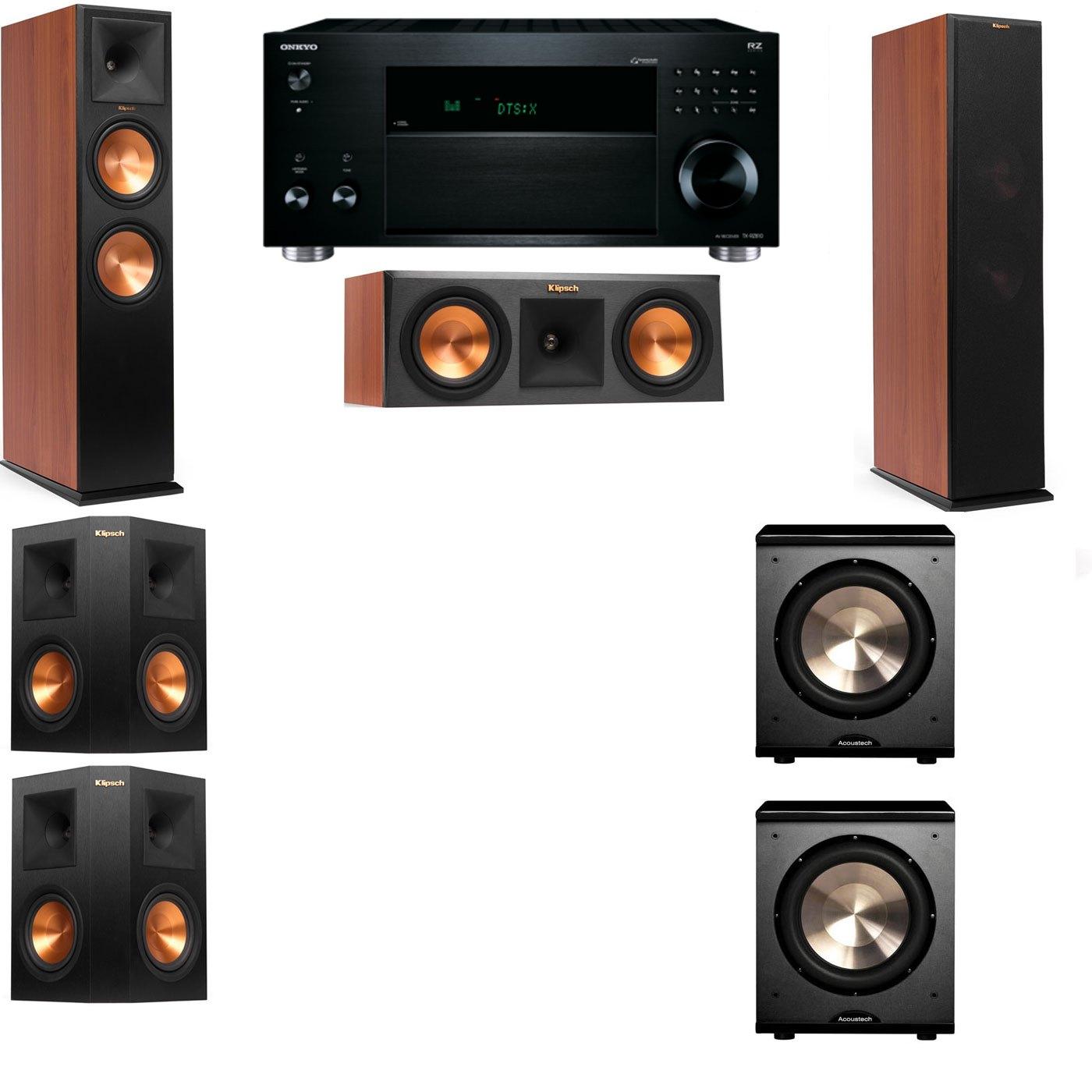 Klipsch RP-280F Tower Speakers CH-RP-250C-PL-200-5.2-Onkyo TX-RZ810