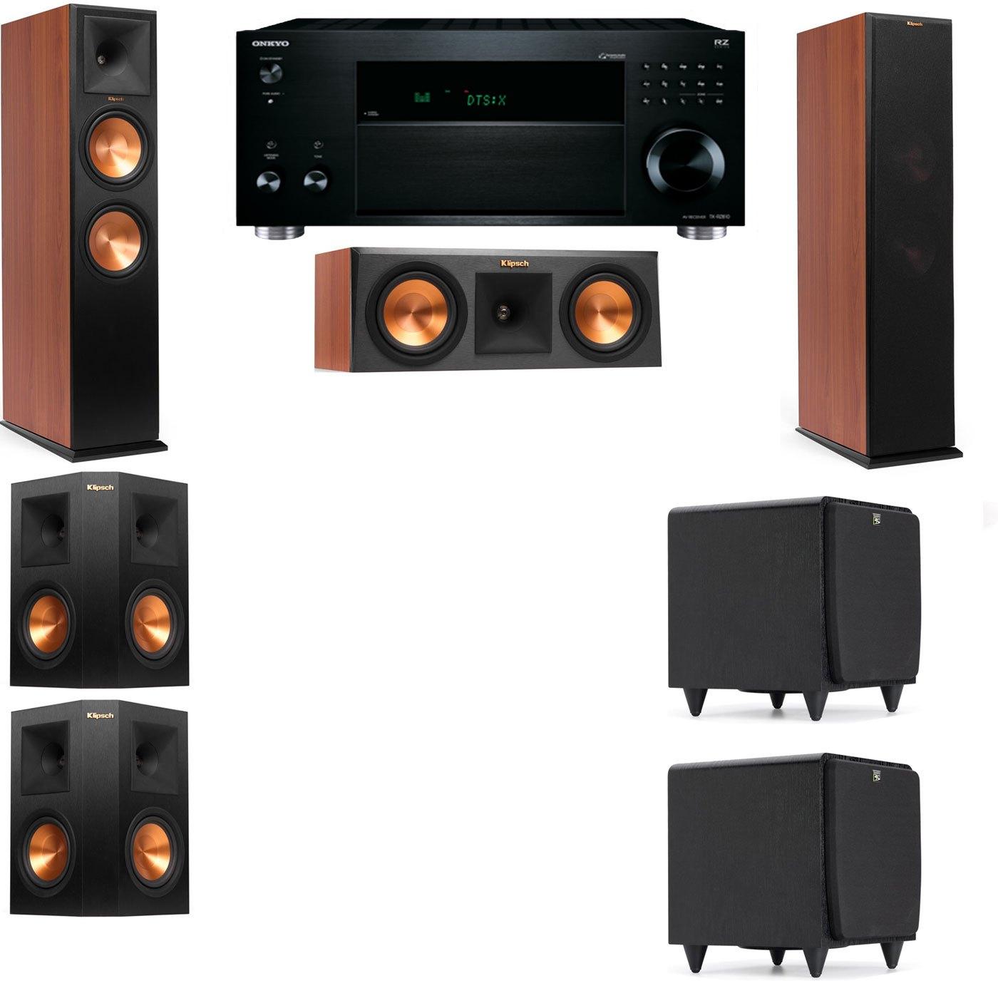 Klipsch RP-280F Tower Speakers CH-RP-250C-SDS12 -5.2-Onkyo TX-RZ810