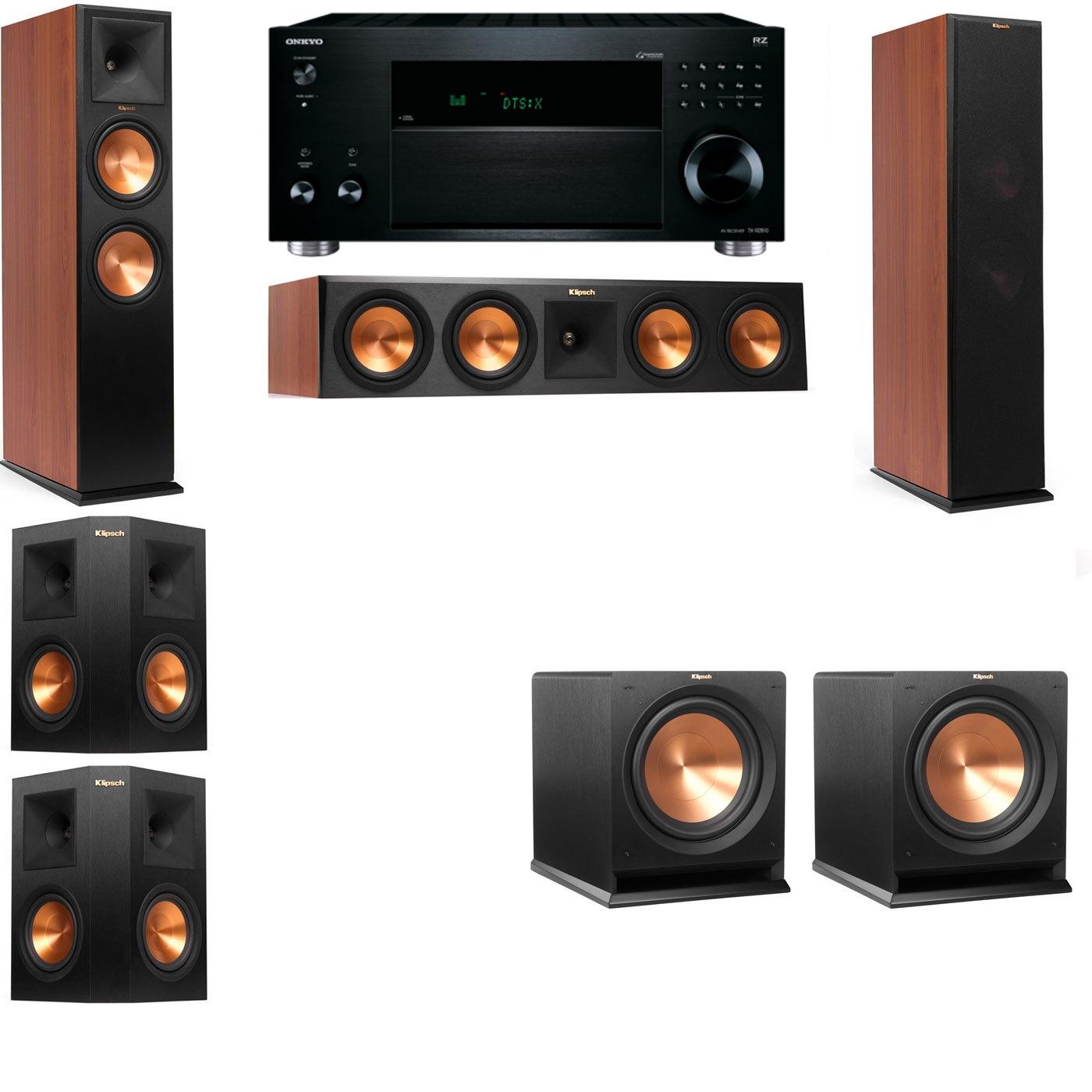 Klipsch RP-280F Tower Speakers CH-R112SW-5.2-Onkyo TX-RZ810