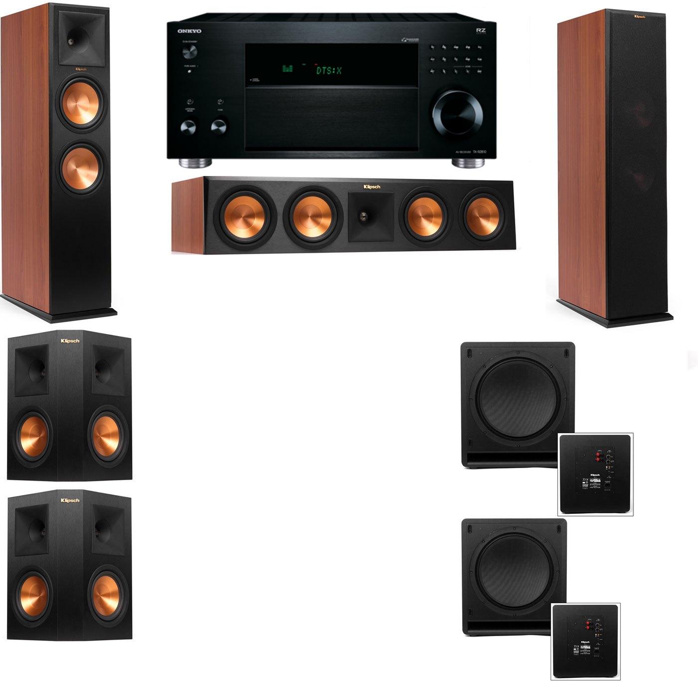 Klipsch RP-280F Tower Speakers CH-SW-112-5.2-Onkyo TX-RZ810