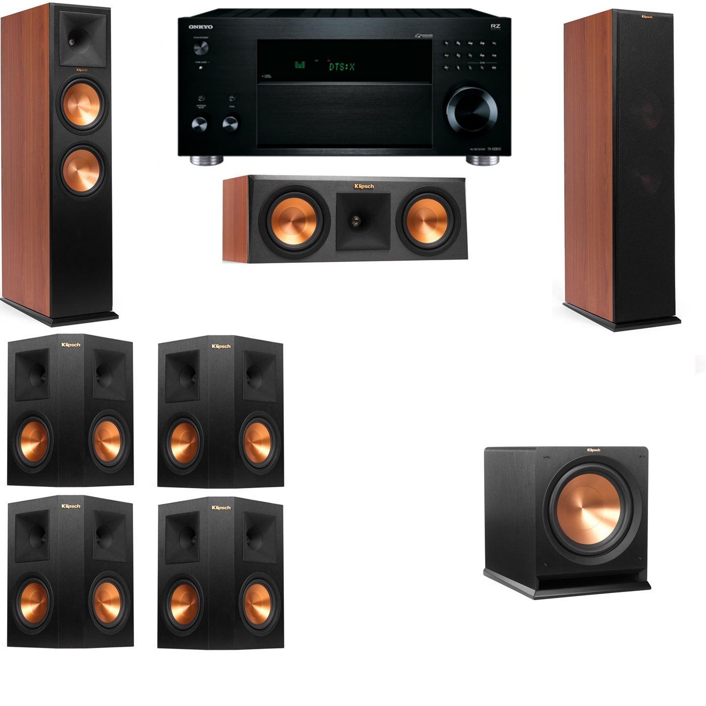 Klipsch RP-280F Tower Speakers CH-RP-250C-R112SW-7.1-Onkyo TX-RZ810