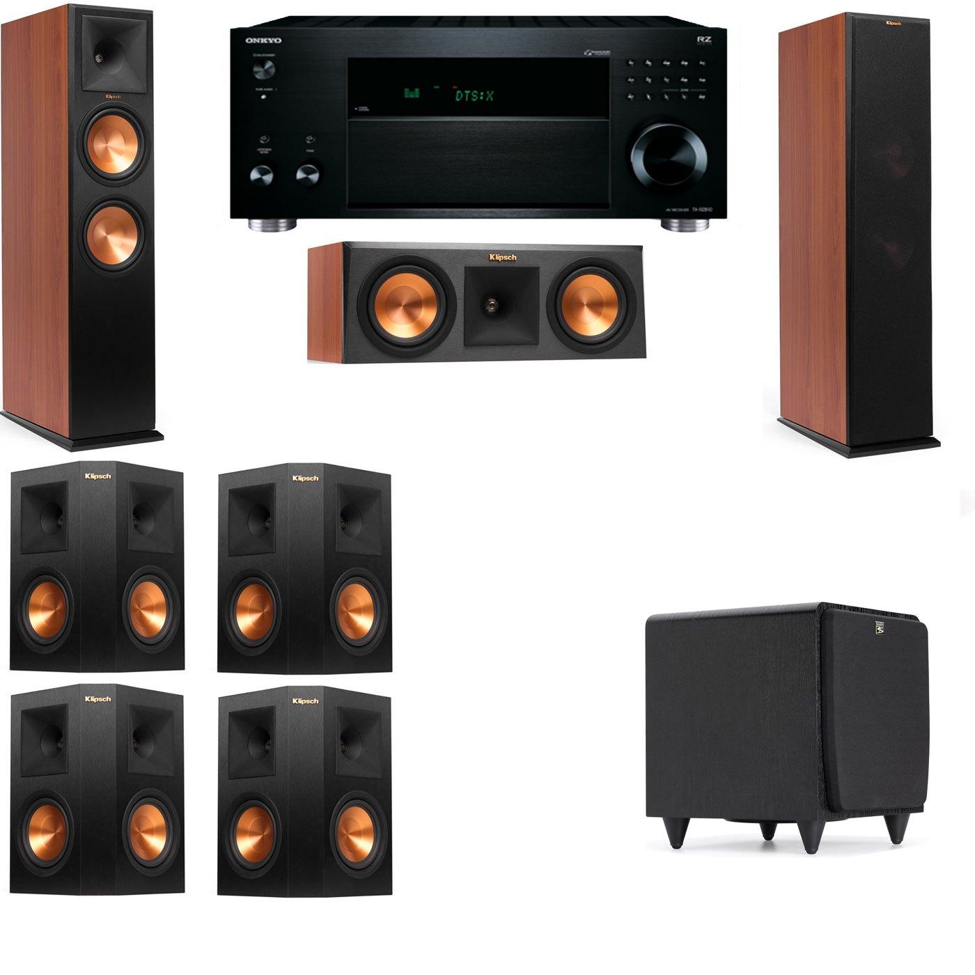 Klipsch RP-280F Tower Speakers CH-RP-250C-SDS12 -7.1-Onkyo TX-RZ810