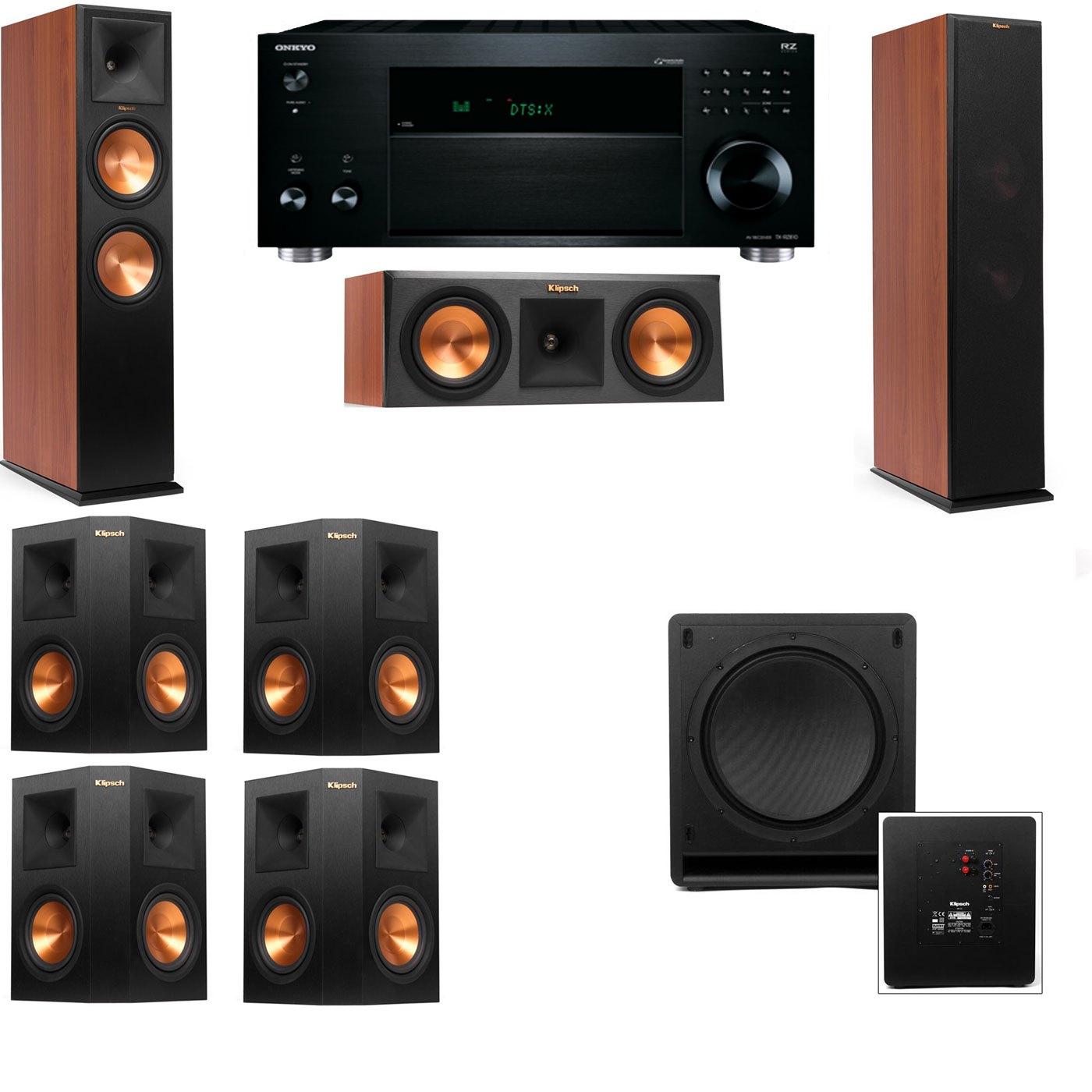 Klipsch RP-280F Tower Speakers CH-RP-250C-SW-112-7.1-Onkyo TX-RZ810