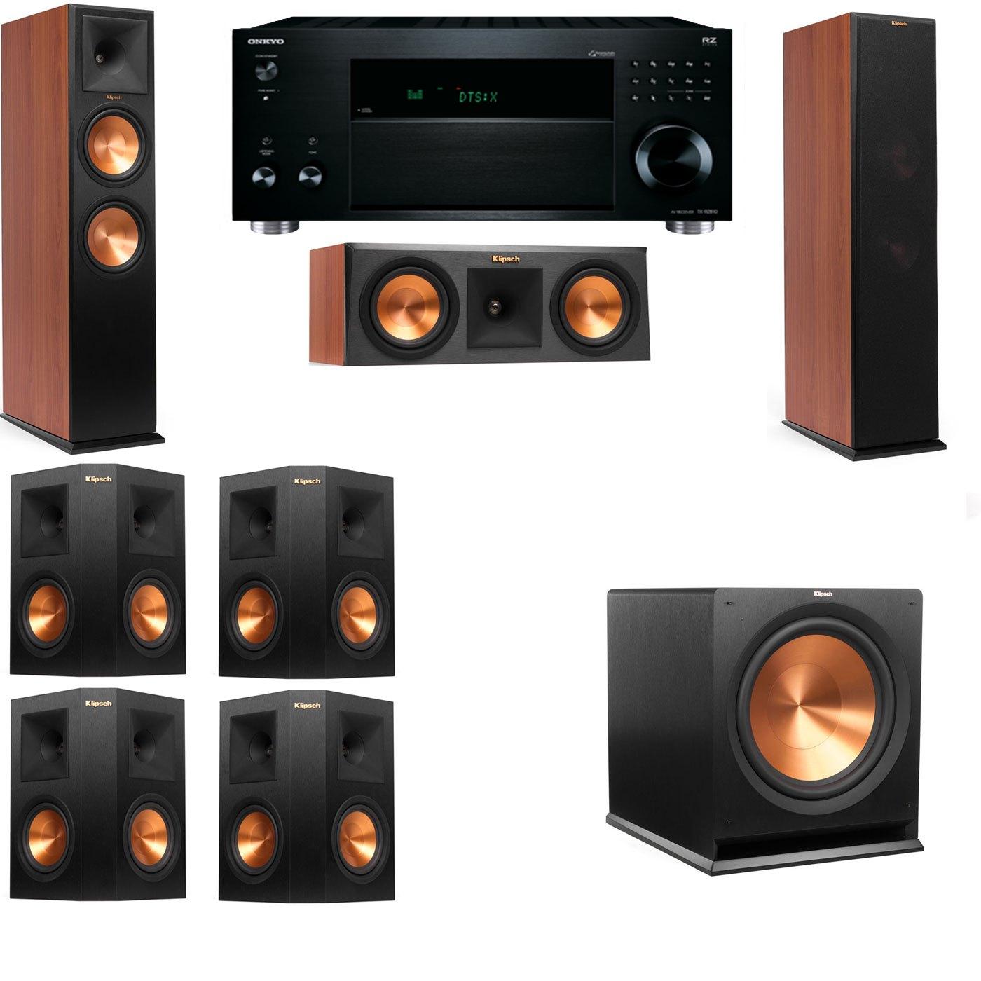 Klipsch RP-280F Tower Speakers CH-RP-250C-7.1-Onkyo TX-RZ810