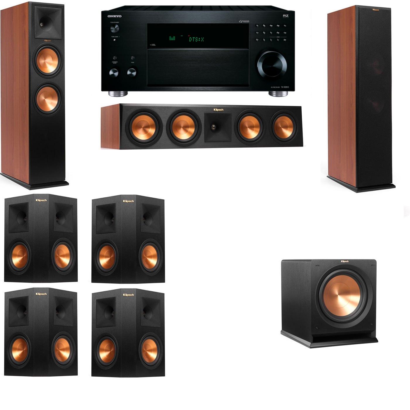 Klipsch RP-280F Tower Speakers CH-R112SW-7.1-Onkyo TX-RZ810