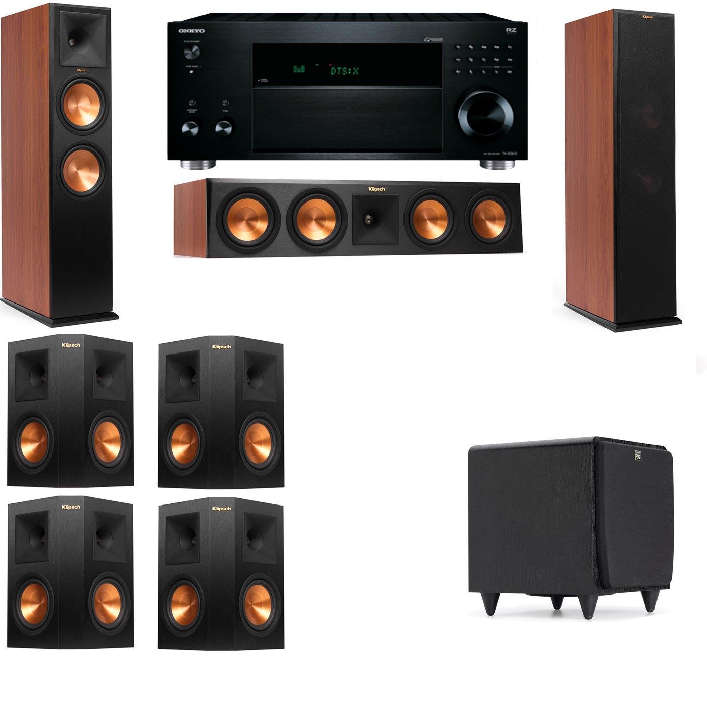 Klipsch RP-280F Tower Speakers CH-SDS12-7.1-Onkyo TX-RZ810
