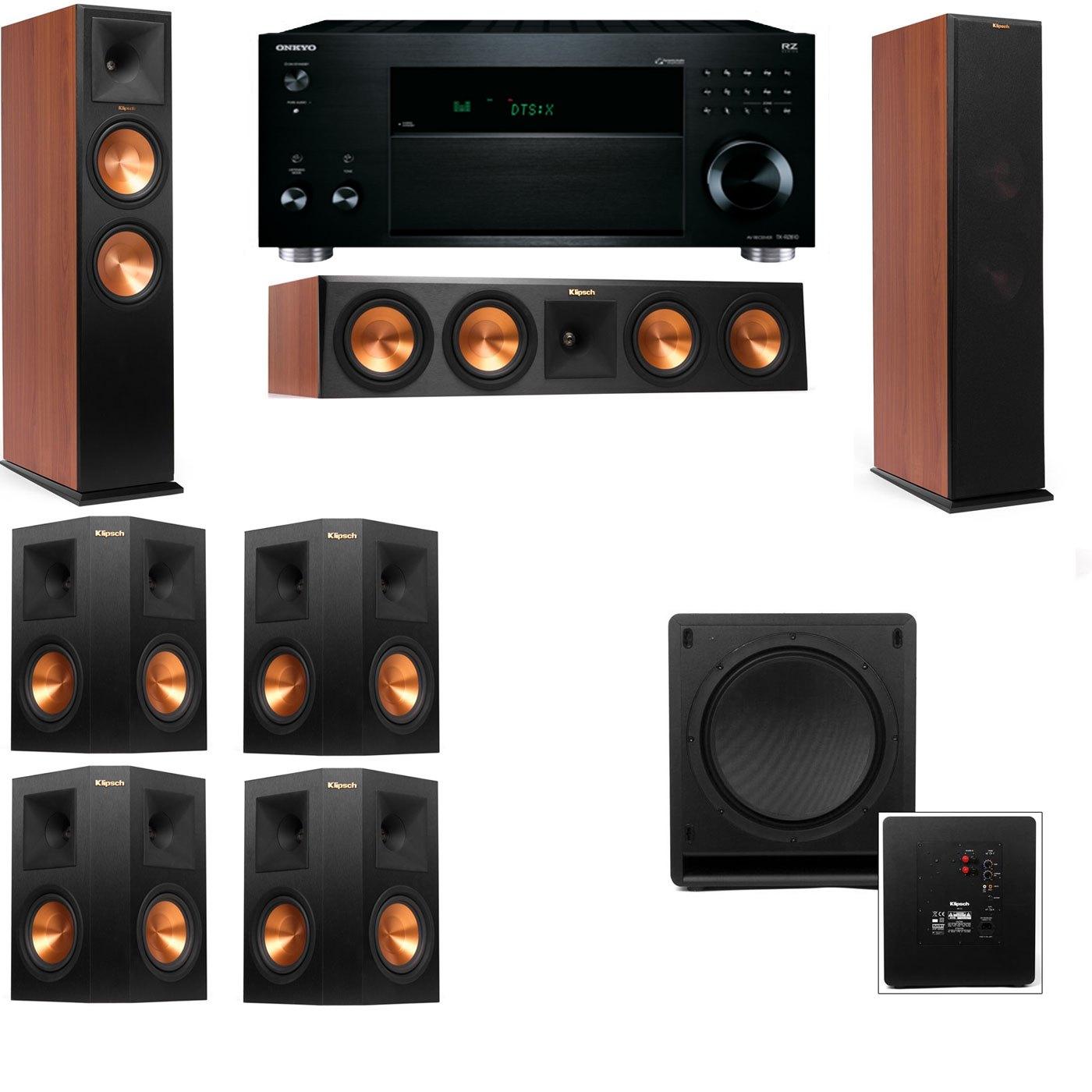 Klipsch RP-280F Tower Speakers CH-SW-112-7.1-Onkyo TX-RZ810