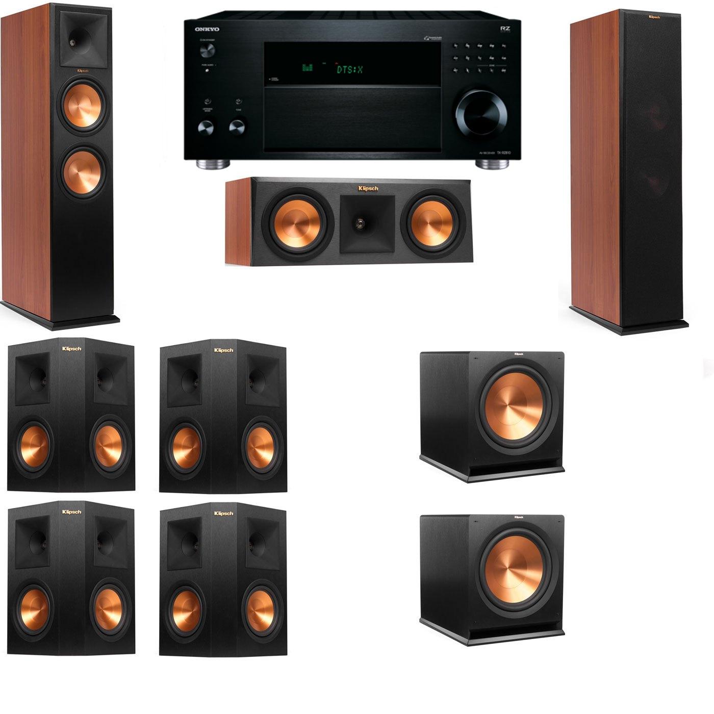 Klipsch RP-280F Tower Speakers CH-RP-250C-7.2-Onkyo TX-RZ810