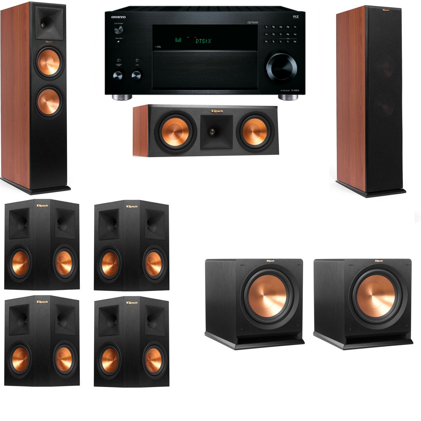 Klipsch RP-280F Tower Speakers CH-RP-250C-R112SW-7.2-Onkyo TX-RZ810