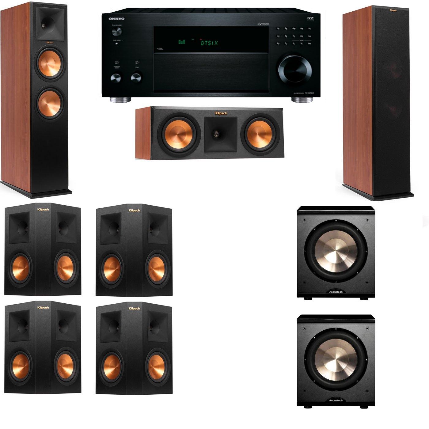 Klipsch RP-280F Tower Speakers CH-RP-250C-PL-200-7.2-Onkyo TX-RZ810