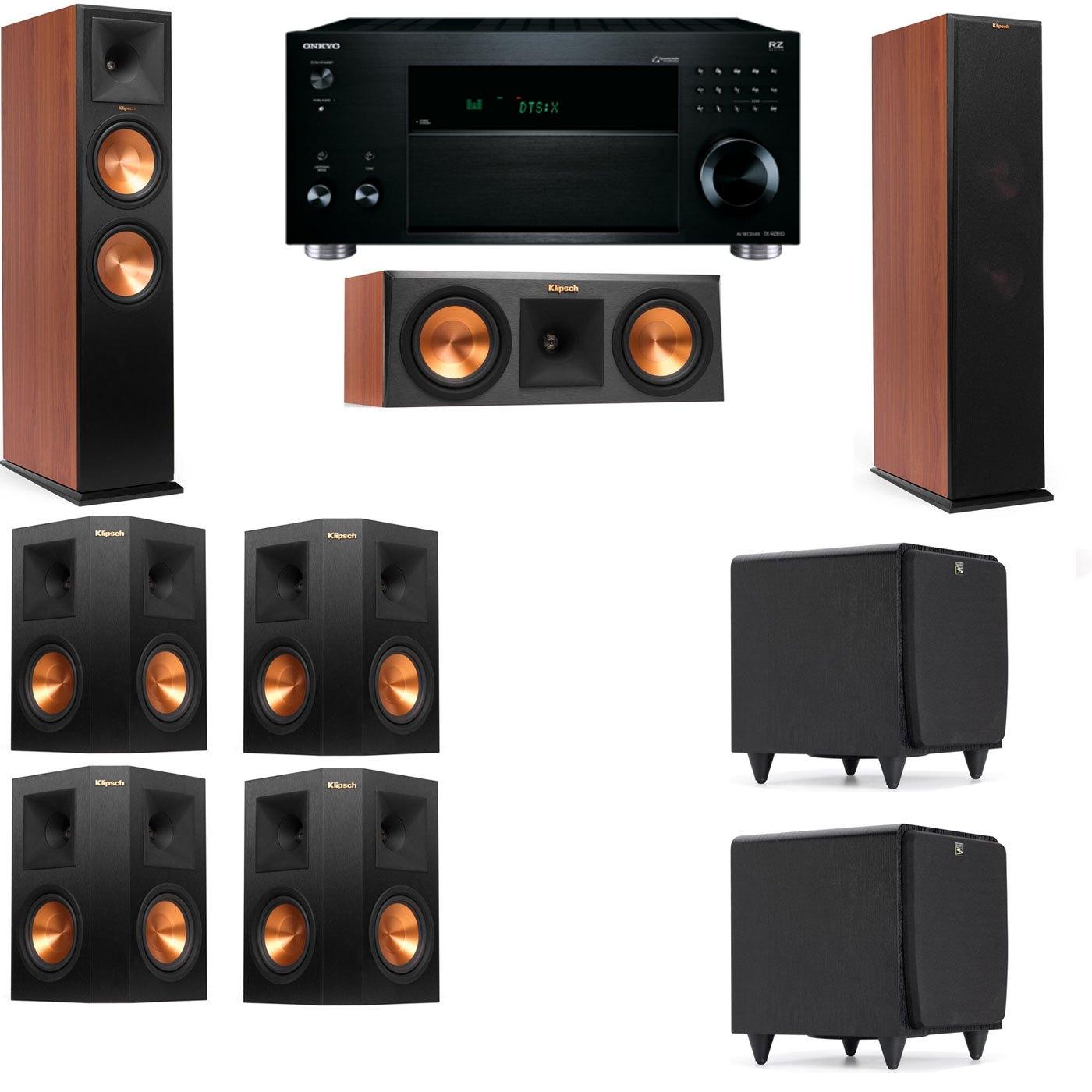 Klipsch RP-280F Tower Speakers CH-RP-250C-SDS12 -7.2-Onkyo TX-RZ810
