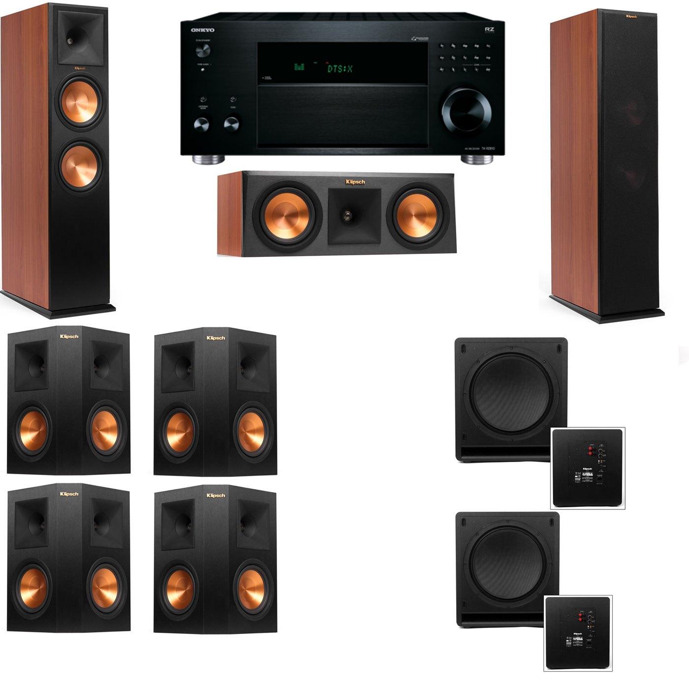 Klipsch RP-280F Tower Speakers CH-RP-250C-SW-112-7.2-Onkyo TX-RZ810