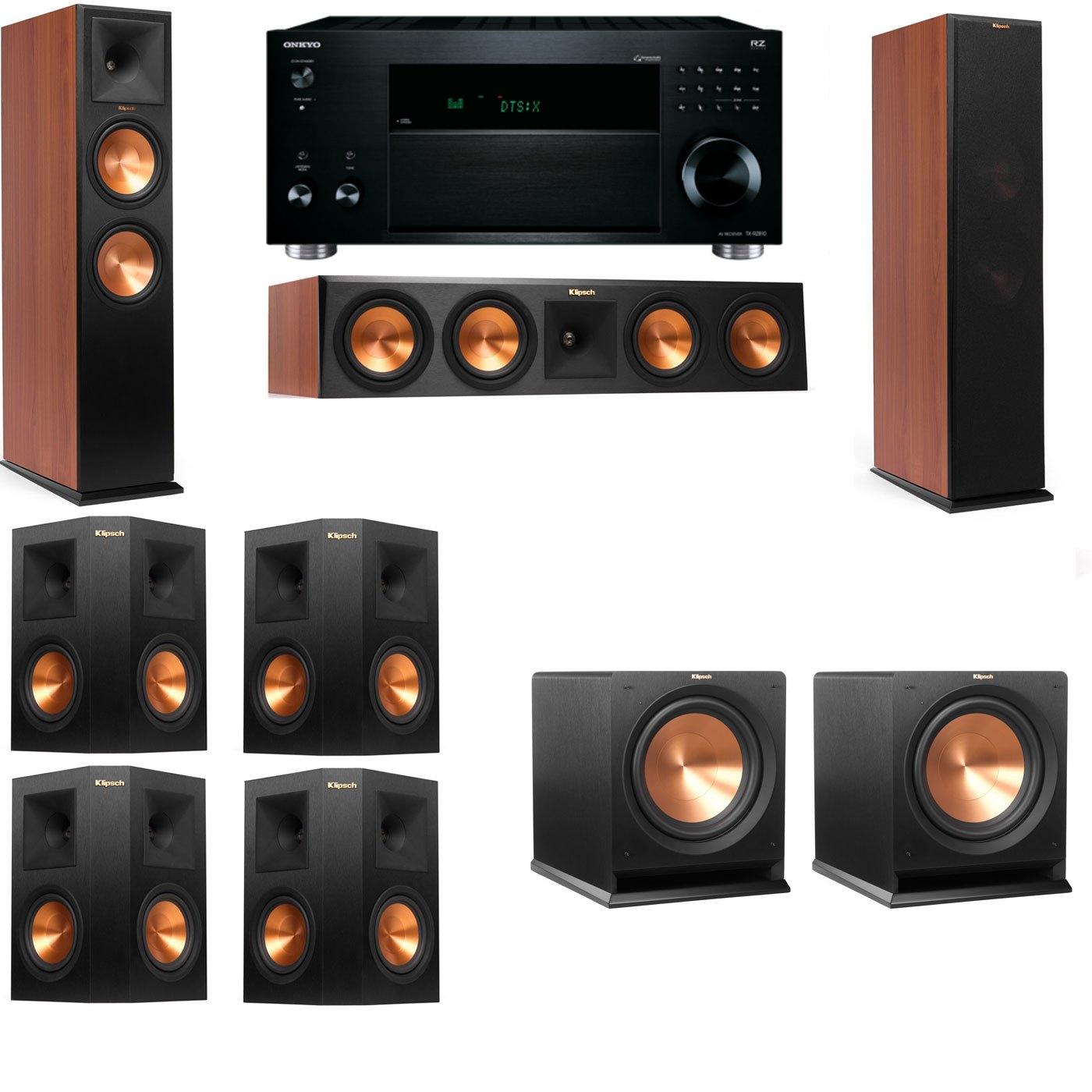 Klipsch RP-280F Tower Speakers CH-R112SW-7.2-Onkyo TX-RZ810
