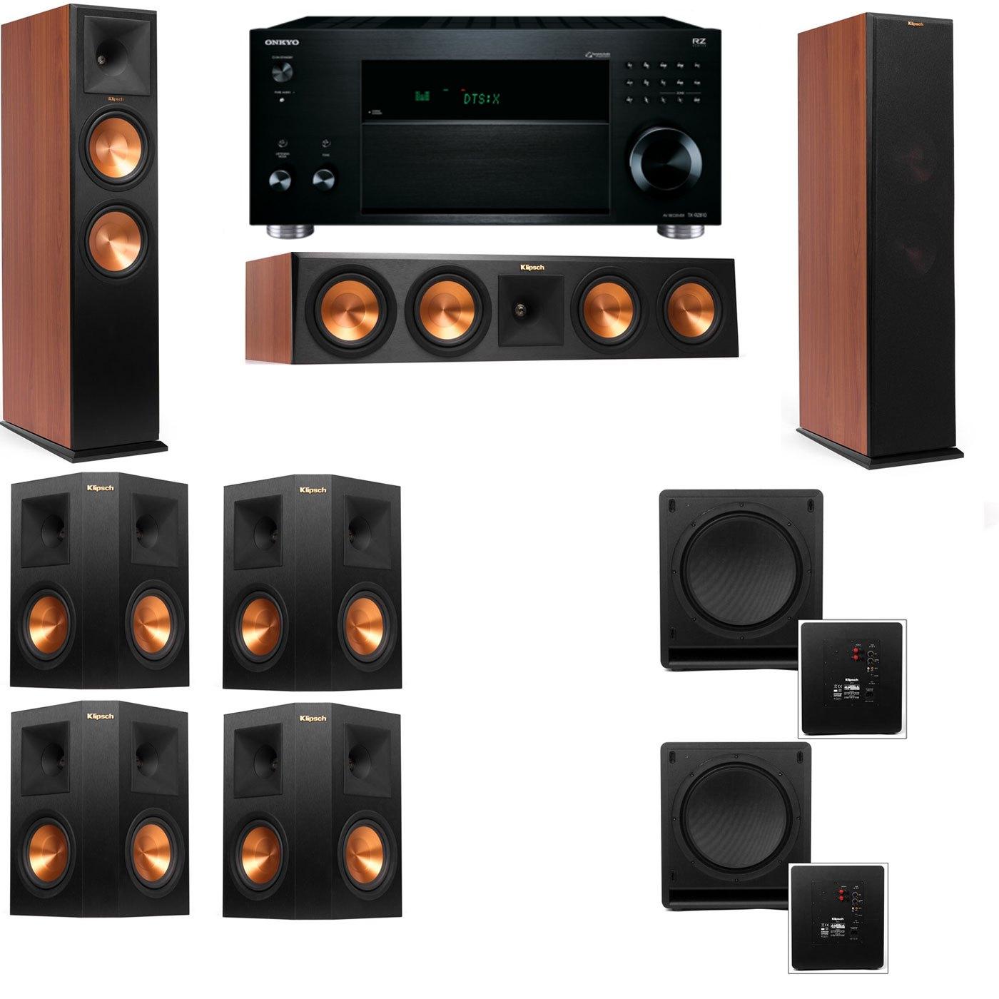 Klipsch RP-280F Tower Speakers CH-SW-112-7.2-Onkyo TX-RZ810