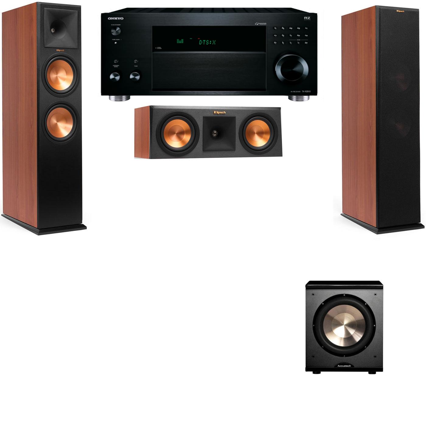 Klipsch RP-280F Tower Speakers CH-RP-250C-PL-200-3.1-Onkyo TX-RZ810