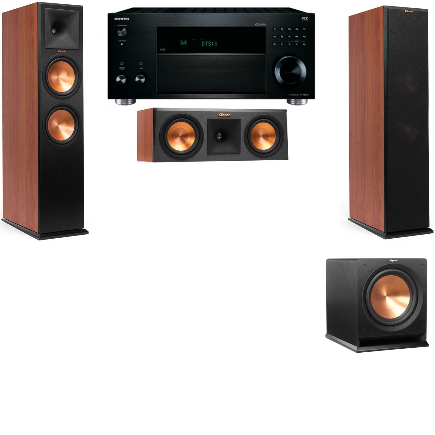 Klipsch RP-280F Tower Speakers CH-RP-250C-R112SW-3.1-Onkyo TX-RZ810