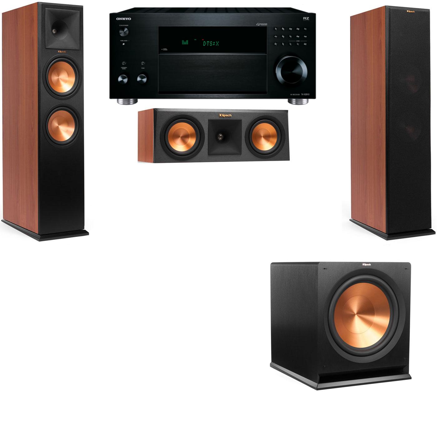 Klipsch RP-280F Tower Speakers CH-RP-250C-3.1-Onkyo TX-RZ810