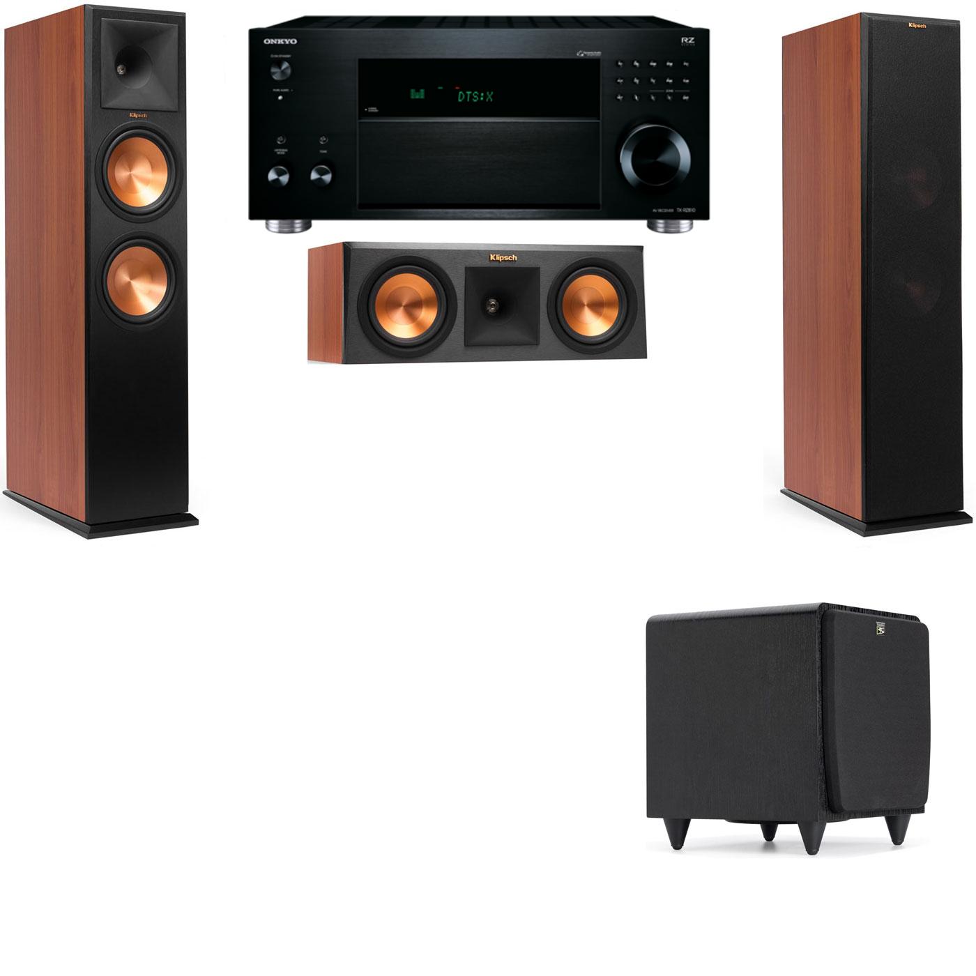 Klipsch RP-280F Tower Speakers CH-RP-250C-SDS12 -3.1-Onkyo TX-RZ810