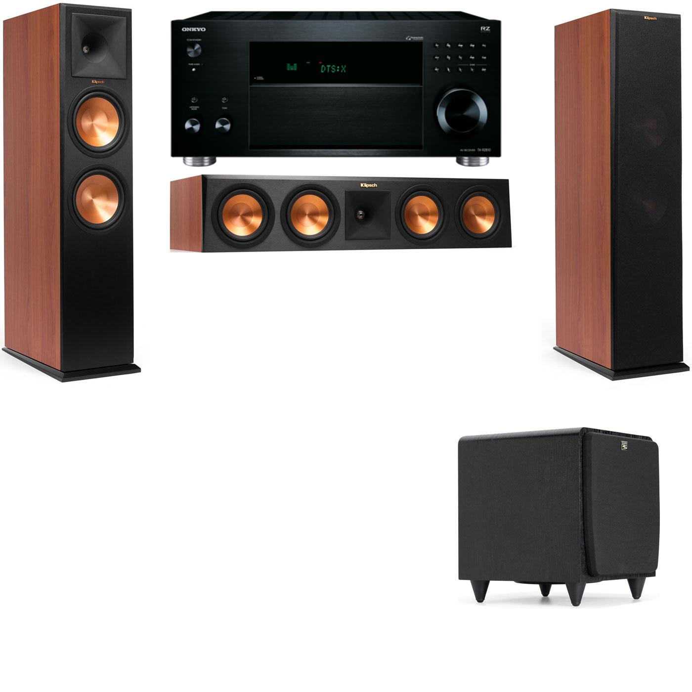 Klipsch RP-280F Tower Speakers CH-SDS12-3.1-Onkyo TX-RZ810