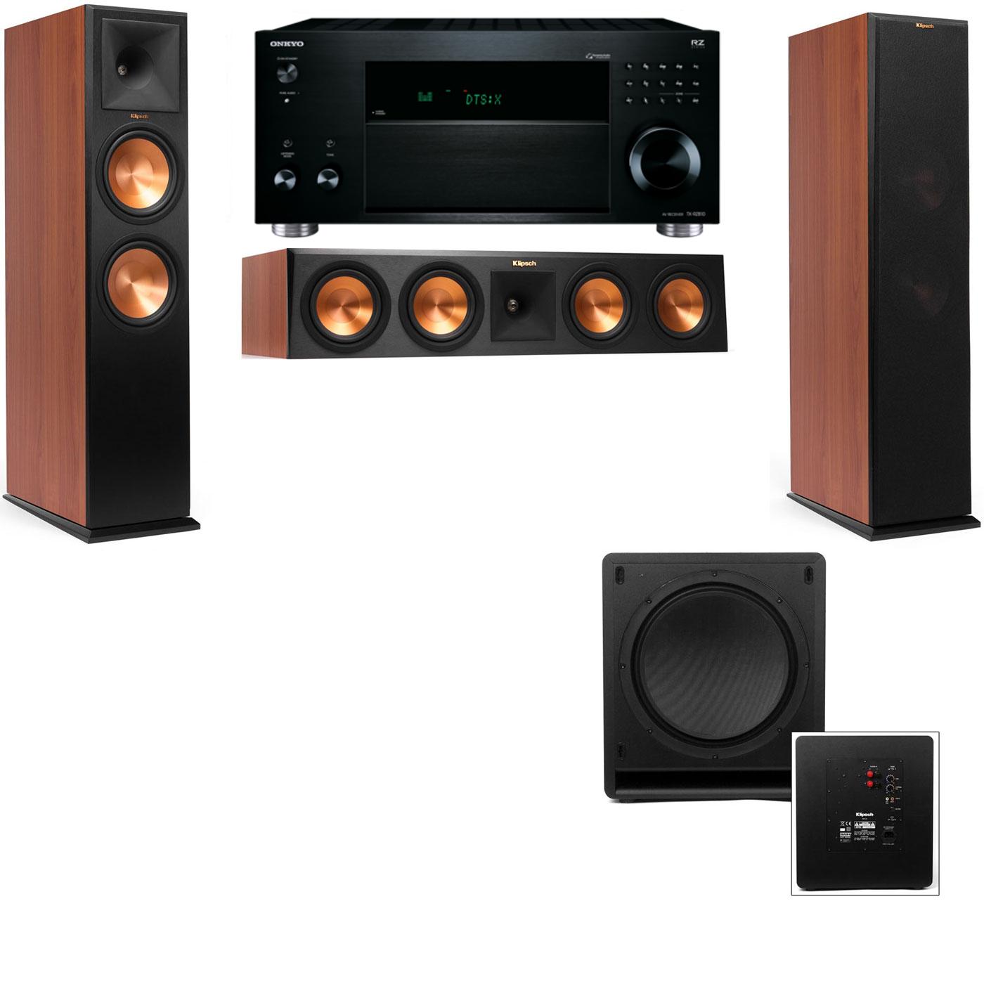 Klipsch RP-280F Tower Speakers CH-SW-112-3.1-Onkyo TX-RZ810