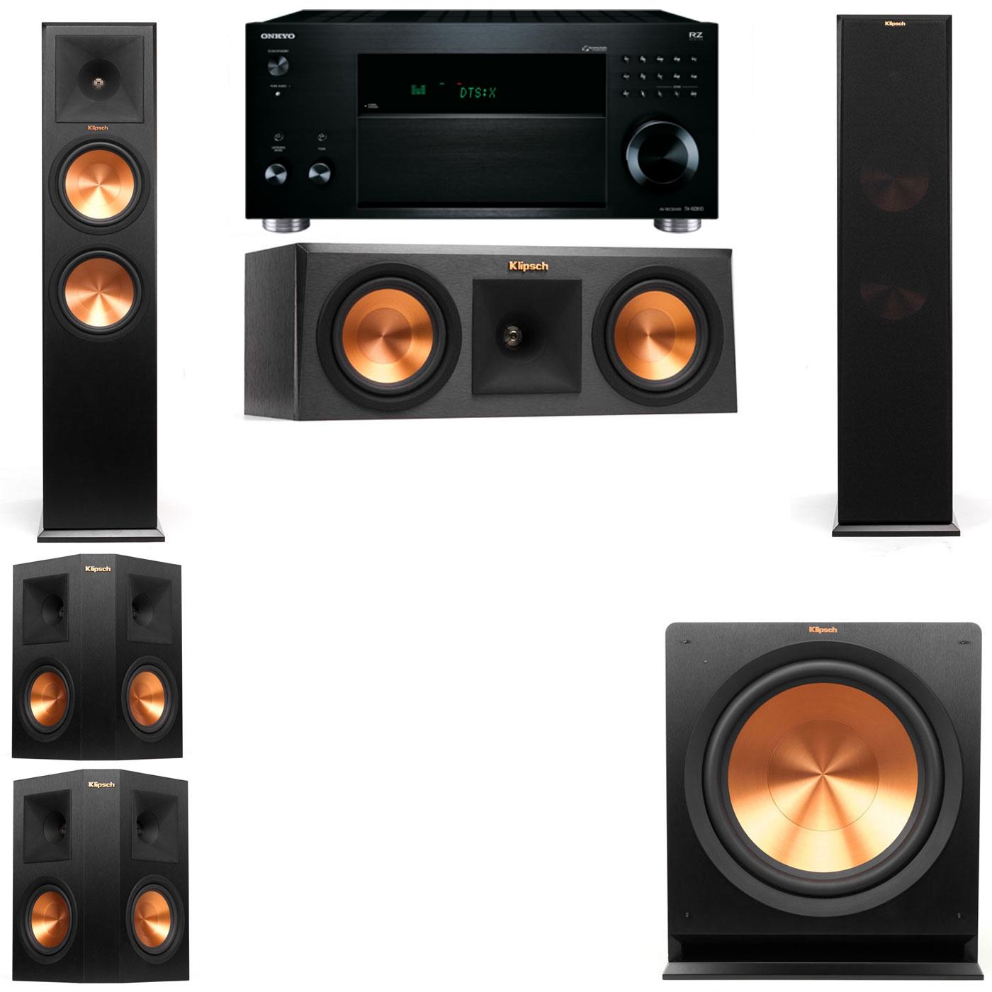 Klipsch RP-280F Tower Speakers-RP-250C-R112SW-5.1-Onkyo TX-RZ810