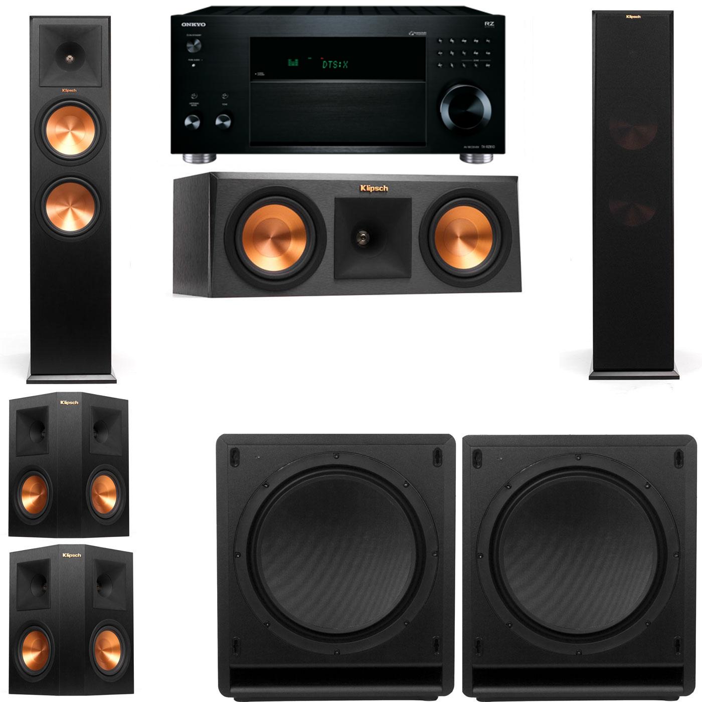 Klipsch RP-280F Tower Speakers-RP-250C-SW-112-5.2-Onkyo TX-RZ810