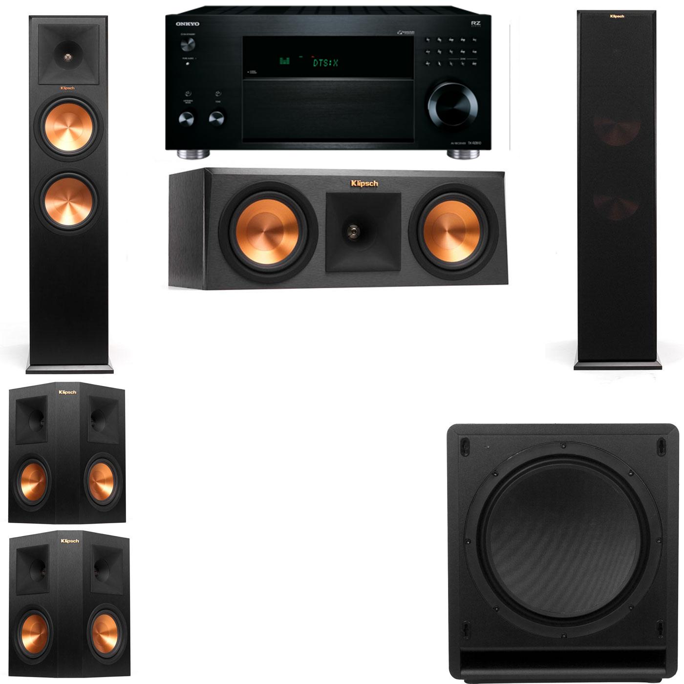 Klipsch RP-280F Tower Speakers-RP-250C-SW-112-5.1-Onkyo TX-RZ810
