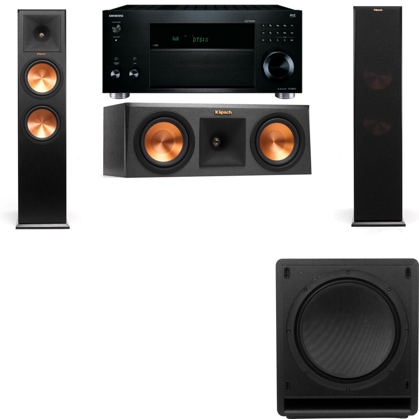 Klipsch RP-280F Tower Speakers-RP-250C-SW-112-3.1-Onkyo TX-RZ810
