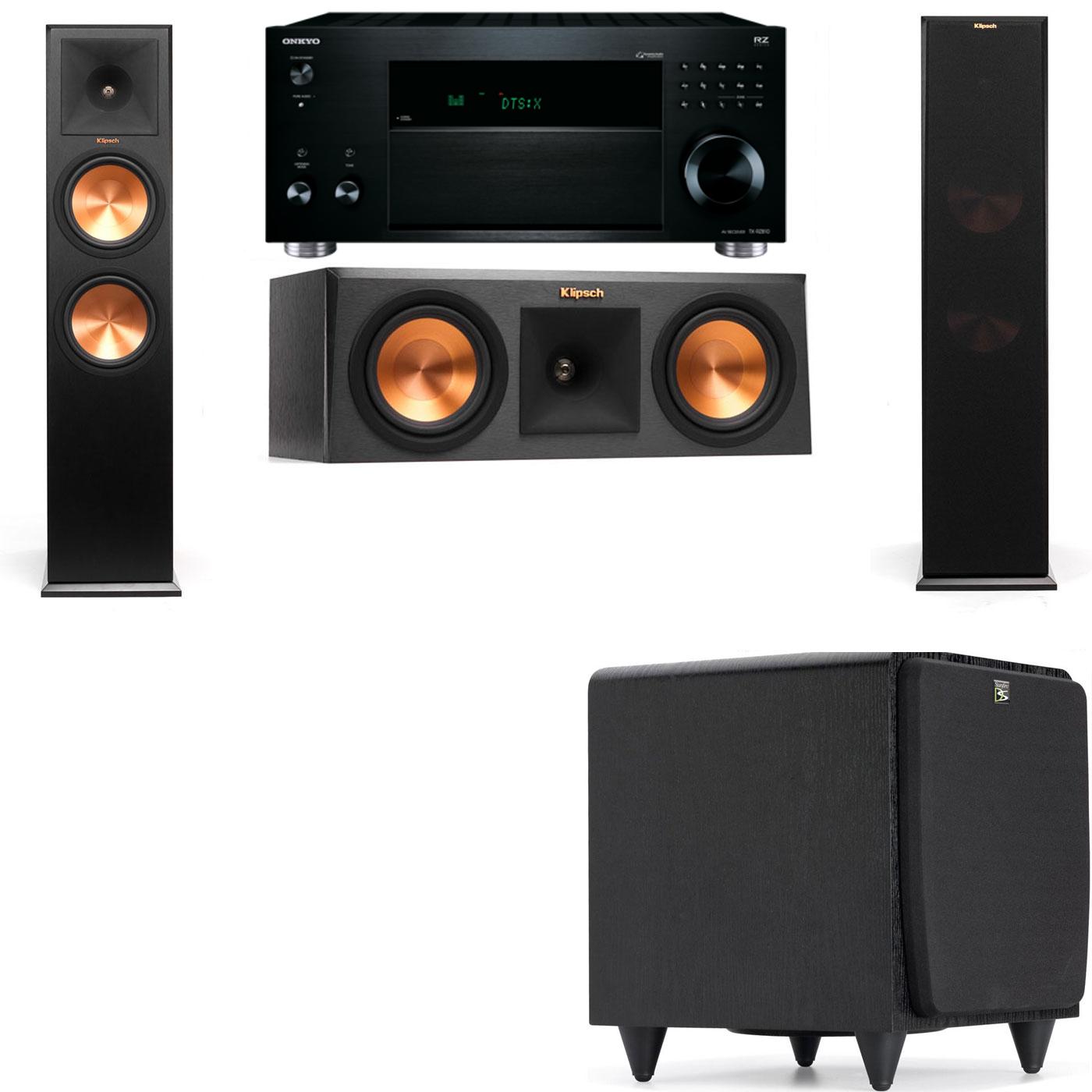 Klipsch RP-280F Tower Speakers-RP-250C-SDS12 -3.1-Onkyo TX-RZ810