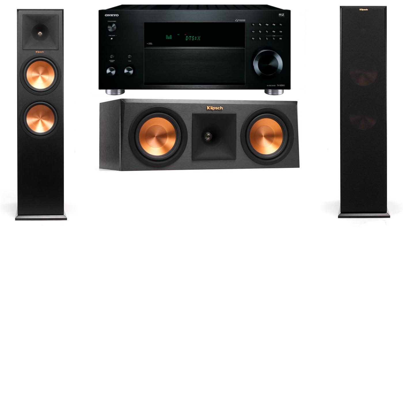 Klipsch RP-280F Tower Speakers-RP-250C-Onkyo TX-RZ810