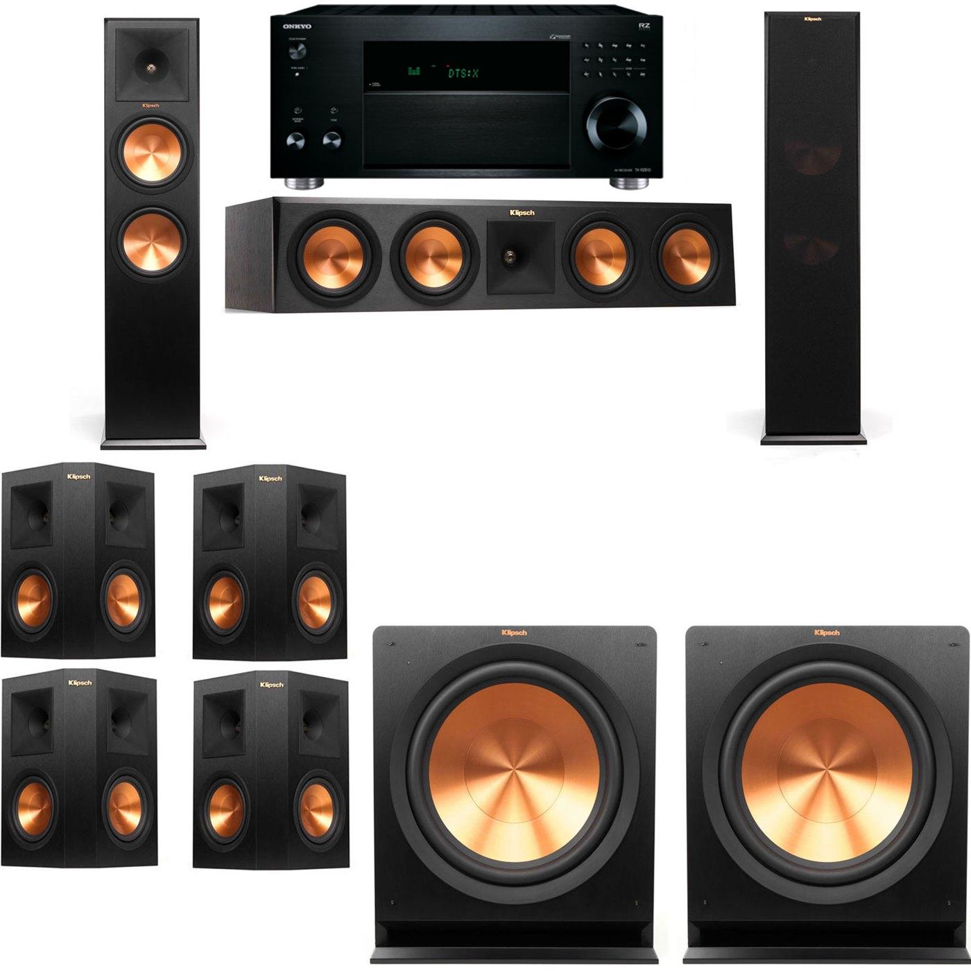 Klipsch RP-280F Tower Speakers-R112SW-7.2-Onkyo TX-RZ810