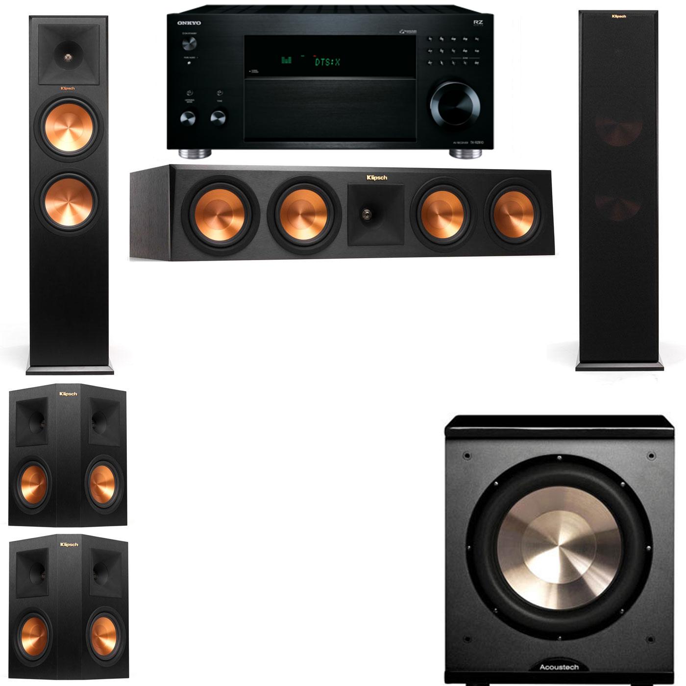 Klipsch RP-280F Tower Speakers-PL-200-5.1-Onkyo TX-RZ810
