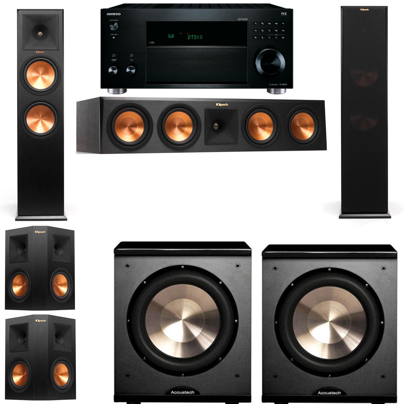 Klipsch RP-280F Tower Speakers-PL-200-5.2-Onkyo TX-RZ810