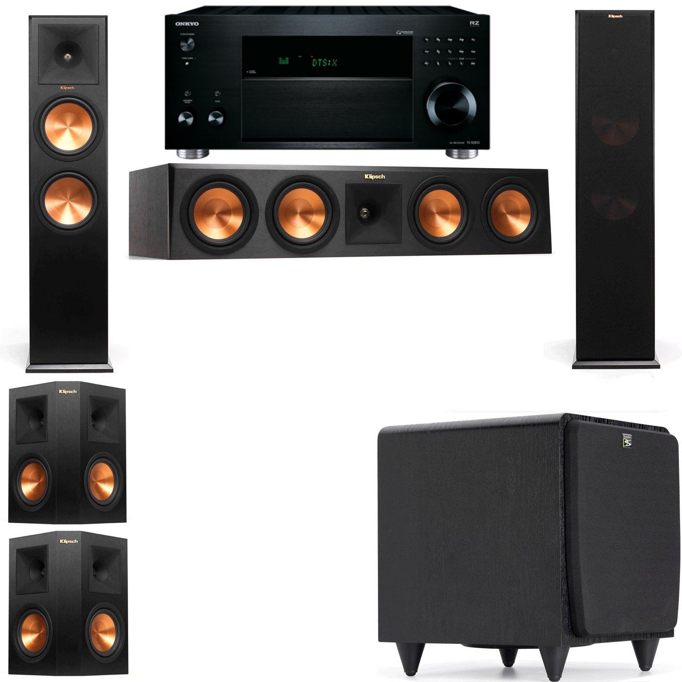 Klipsch RP-280F Tower Speakers-SDS12-5.1-Onkyo TX-RZ810
