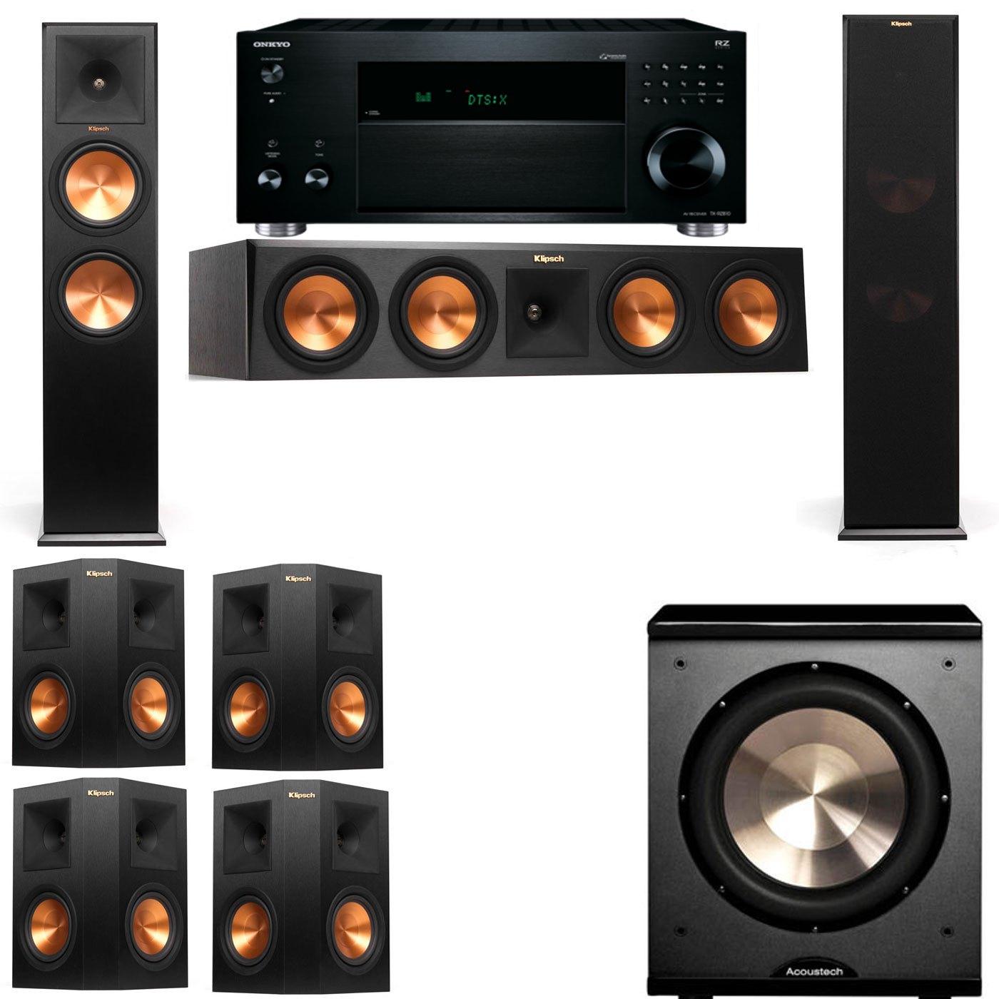 Klipsch RP-280F Tower Speakers-PL-200-7.1-Onkyo TX-RZ810