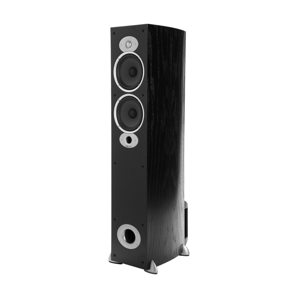 Polk Audio RTiA5-BLK Black Compact Floorstanding Speaker