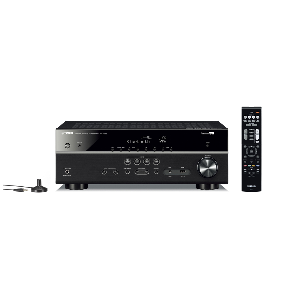 Yamaha RX-V385 Black 5.1 Channel A/V Receiver