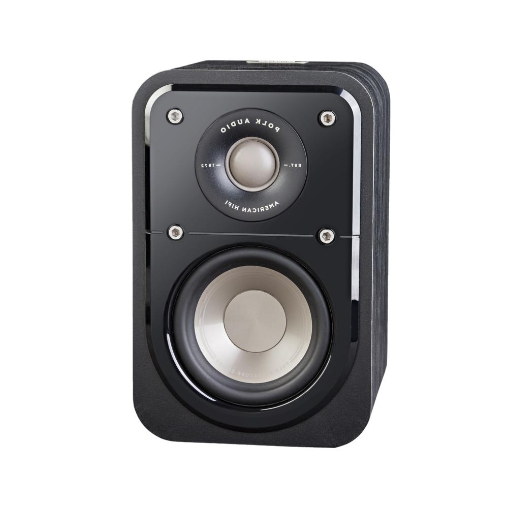 Polk Audio S10-BLK Washed Black Walnut Home Theater Satellite Surround Speaker - Pair