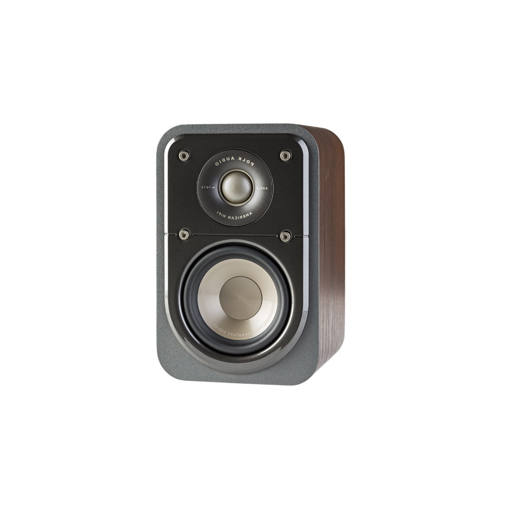 Polk Audio S10-BR Classic Brown Walnut Home Theater Satellite Surround Speaker - Pair